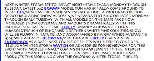 Detail of weather warning