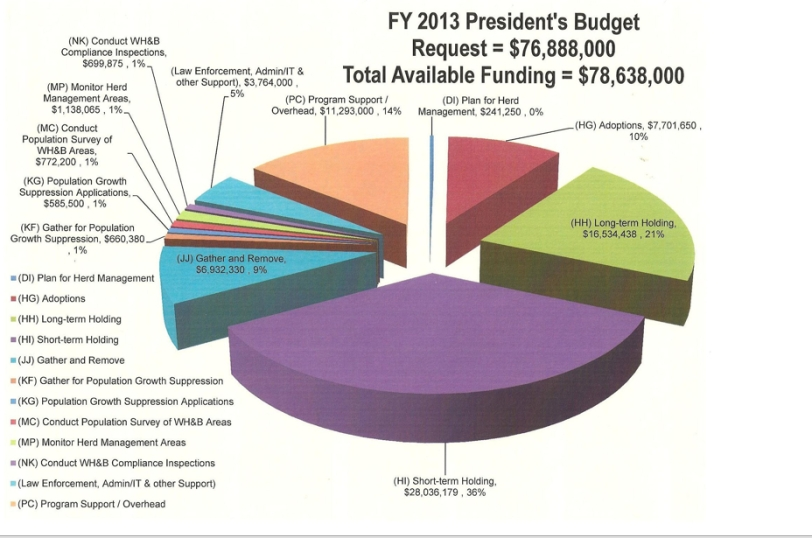 Budget for 2013 BLM WH&B program