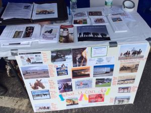 Rally table in Augusta Maine, Americans love their wild horses and burros!